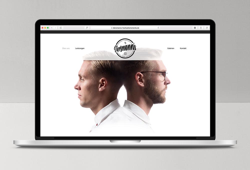 Diersmanns Hochzeitsmomente - Webdesign